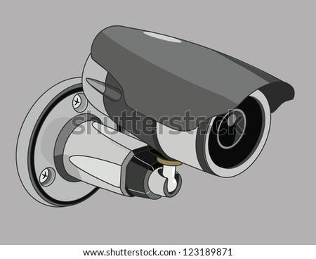 CCTV Camera - stock vector
