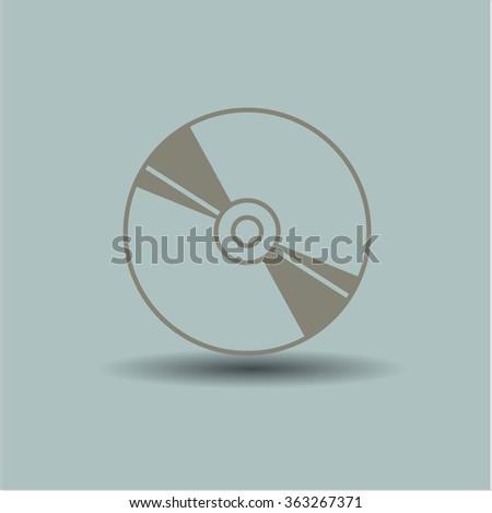 CD, Blu Ray disc vector symbol - stock vector