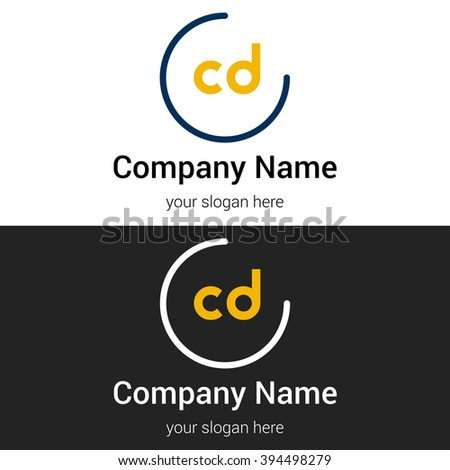 CD business logo icon design template elements. Vector color sign. - stock vector