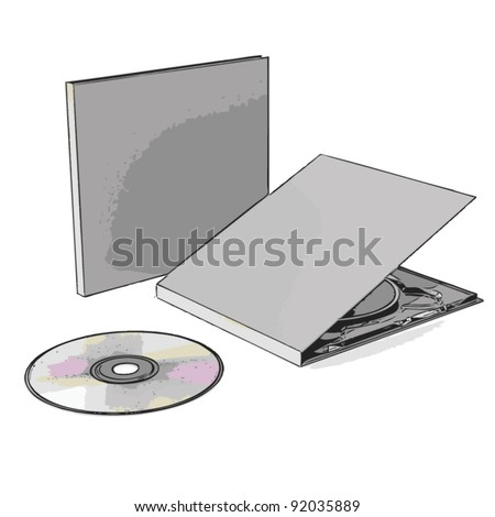 cd case - stock vector