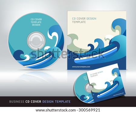 Cd cover design template. Abstract background Vector illustration. - stock vector