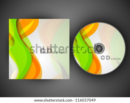 CD Cover design template. EPS 10. - stock vector