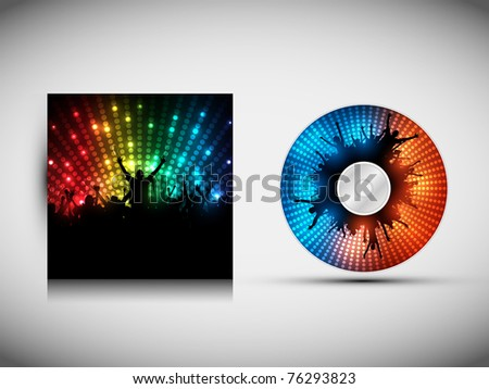 cd cover design template party vector ベクター画像素材 76293823
