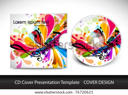 cd cover design template presentation , editable vector illustration - stock vector