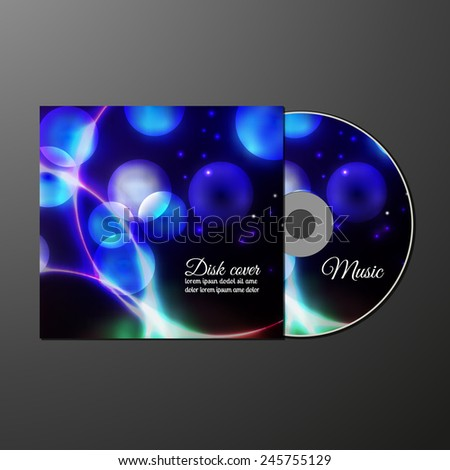 Cd cover design template with copy space. Vector illustration. Layered. Easy to paste your image. - stock vector