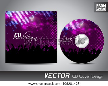 CD cover presentation design template with copy space and music concept. EPS 10. - stock vector