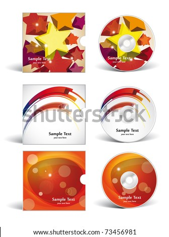 cd covers  design - stock vector