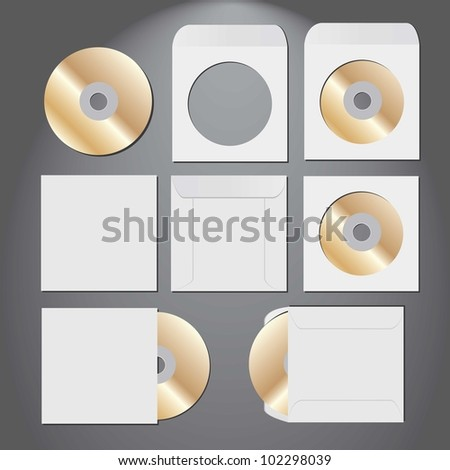 CD disk. vector illustration. - stock vector