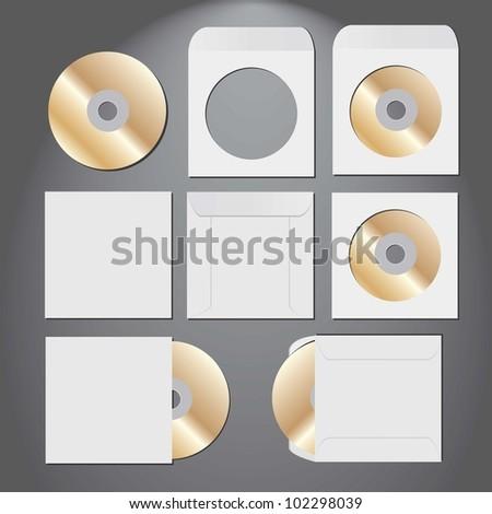 CD disk. vector illustration. - stock vector