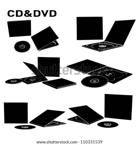 cd dvd - stock vector