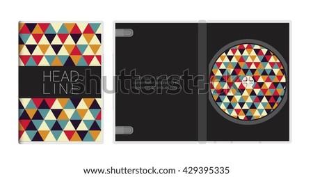 Cd DVD cover design template.Vector illustration - stock vector