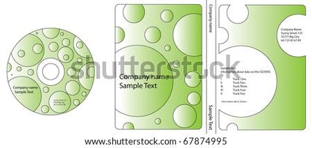 CD/DVD cover vector - stock vector
