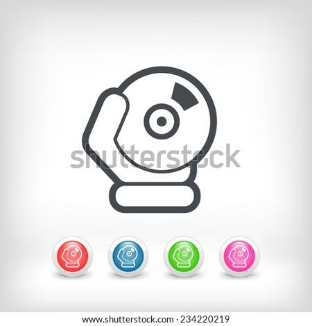 Cd icon - stock vector