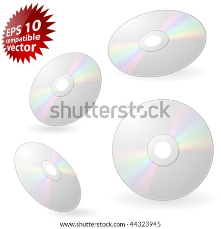 CD or DVD Eps10 compatible vector - stock vector