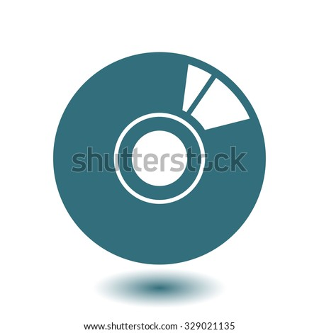 CD or DVD icon. Compact disk simbol. - stock vector
