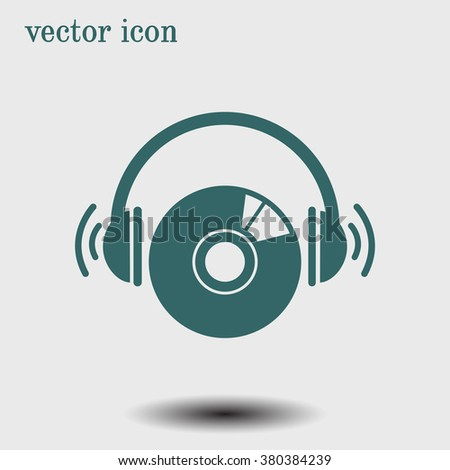 CD or DVD icon. Compact disk simbol. - stock vector