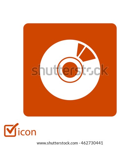 CD or DVD icon. Compact disk simbol.
