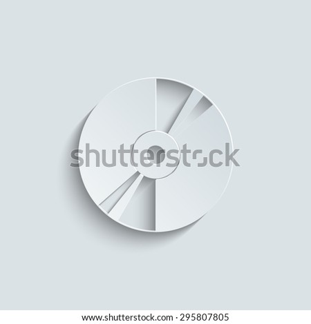 CD or DVD icons with shadow - stock vector