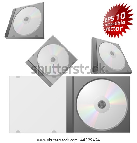 CD or DVD in box EPS10 compatible - stock vector