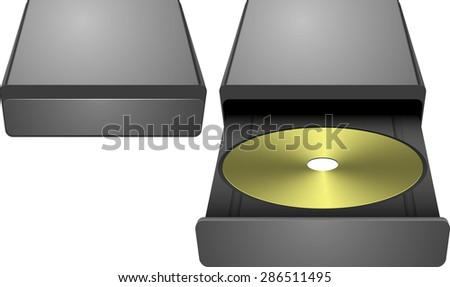 cd rom abstract vector illustration background eps 10 / cd rom - stock vector