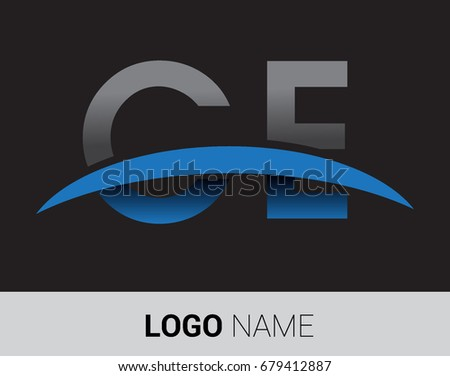 Ce Initial Logo Company Name Colored Stock Vector 679412887