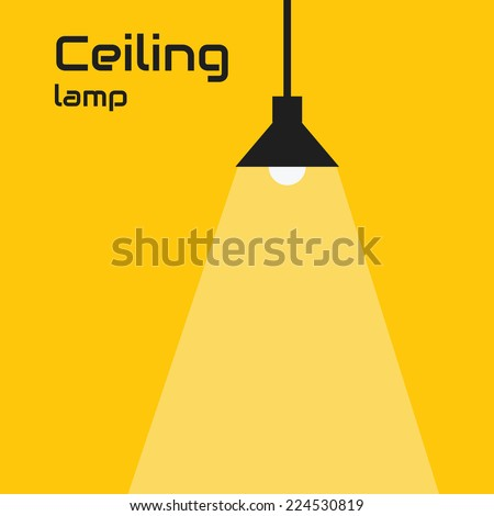 Ceiling lamp - stock vector