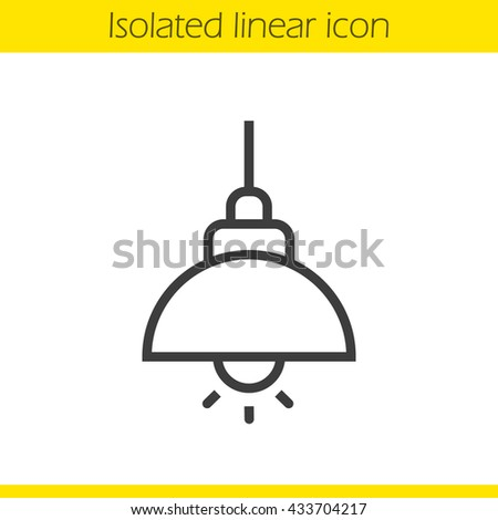 Ceiling Lamp Linear Icon Thin Line Illustration Hanging Contour Symbol Vector Isolated