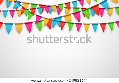 celebrate background party colorful flags vector stock vector