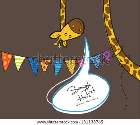Celebrate Greeting Card - stock vector