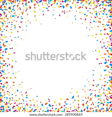 Celebration background with colorful confetti. Vector illustration.
