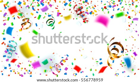 Celebration carnival. Bright colorful vector confetti background. Illustration