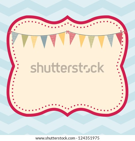 Celebration Frame: This fun and trendy frame awaits your text. Fully editable vector illustration