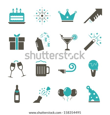 Celebration Icon - Color - stock vector