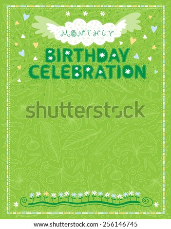 Celebration Letter Birthdays Office Staff On Stock Vector