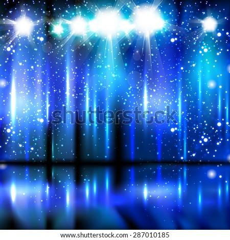 celebration light stage background easy editable - stock vector