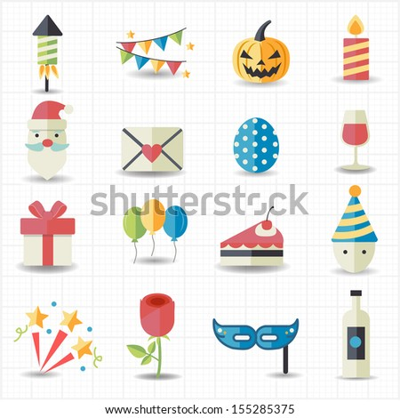 Celebration, Party icons - stock vector