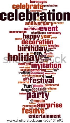 Celebration word cloud concept. Vector illustration