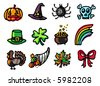 celebrations icons 2 - others of same series : http://www.shutterstock.com/lightboxes.mhtml?lightbox_id=499075 - stock vector