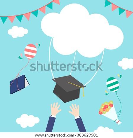 celebrations of graduation - stock vector