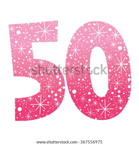 celebratory number fifty for birthdays anniversaries celebrations - stock vector
