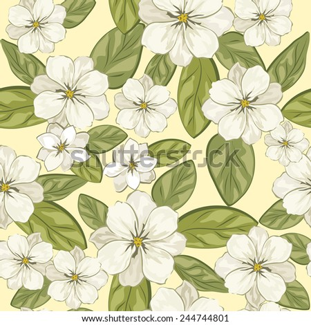 Celebratory spring background with flowers. Vector illustration.