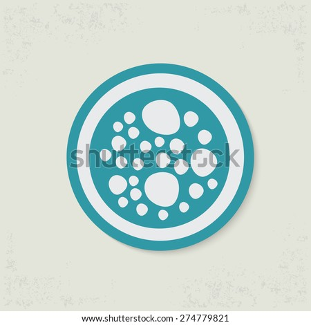 Cell design on old background,clean vector - stock vector