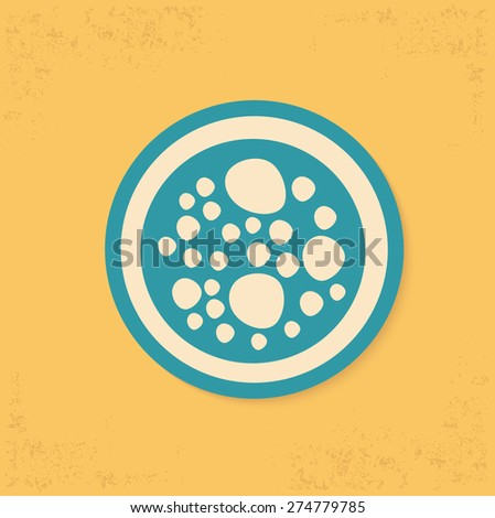 Cell design on yellow background,clean vector - stock vector