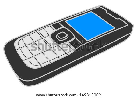 cell phone, mobile phone, illustration