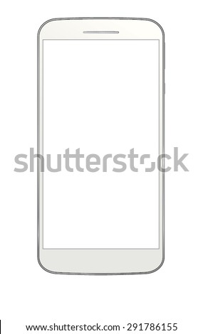 Cell phone with white background. - stock vector