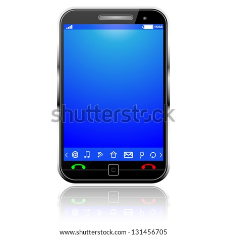Cell Smart Mobile Phone - stock vector