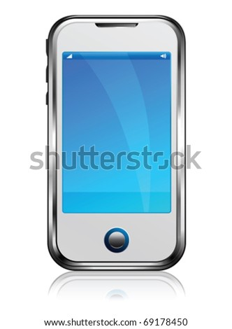 Cell Smart Phone - stock vector