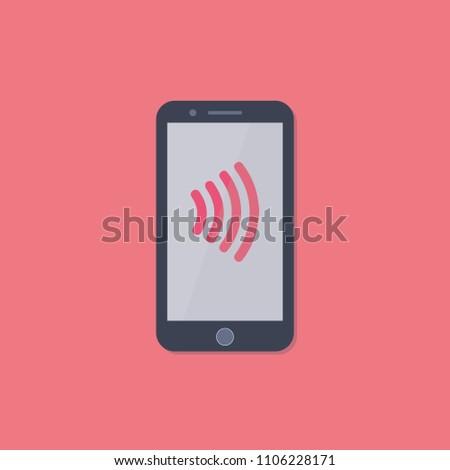 Cellphone Mobile Phone Nfc Symbol Mobile Stock Vector 1106228171