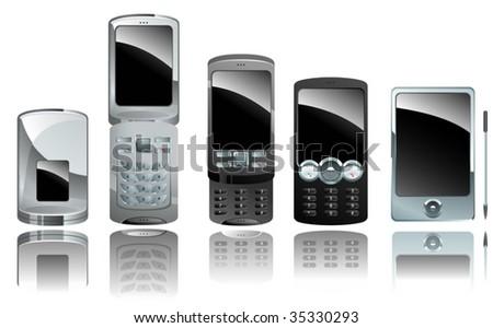 cellphones - stock vector