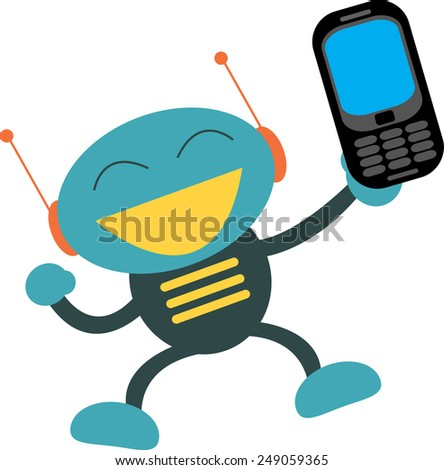 cellular phone - stock vector